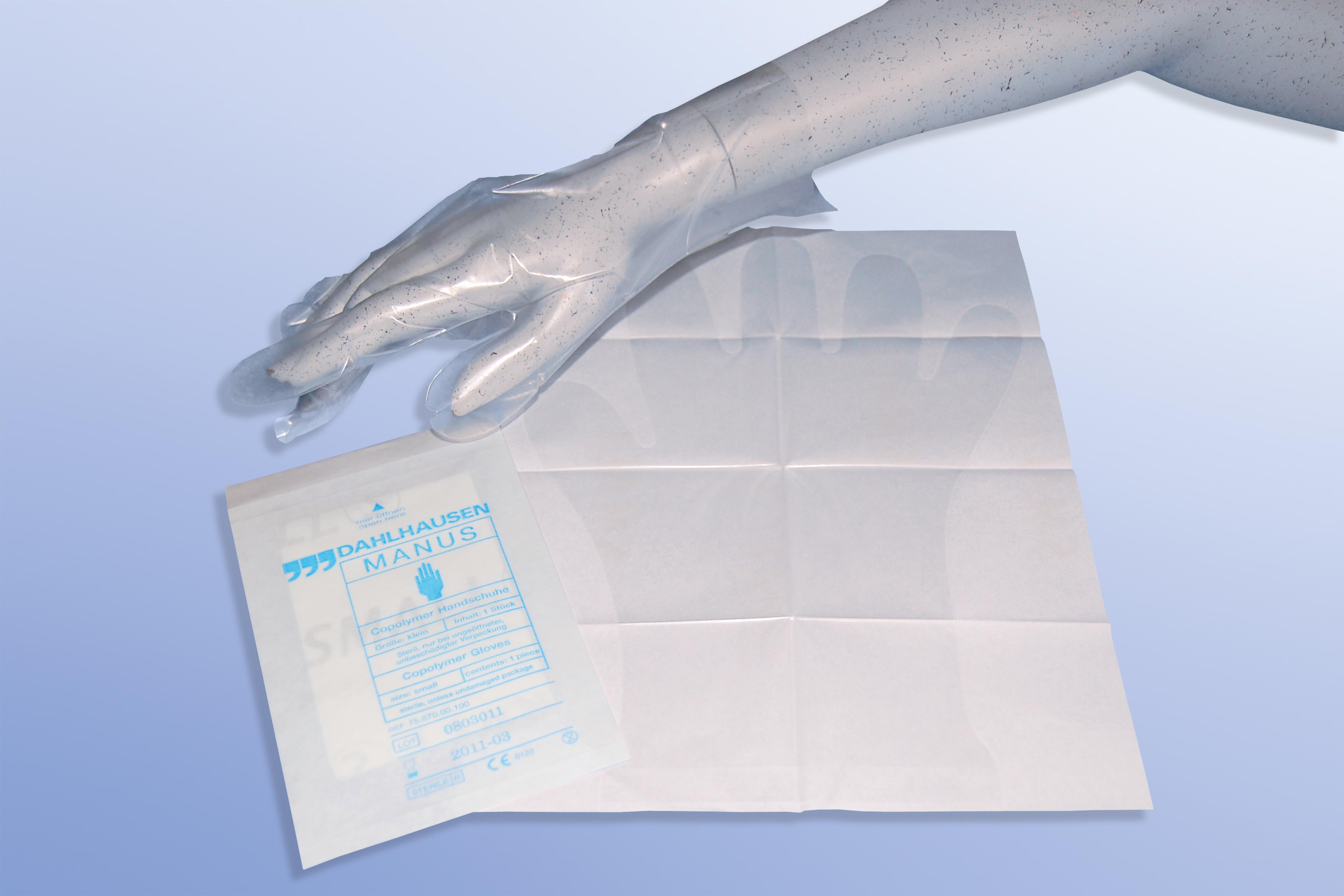 Copolymer-Untersuchungshandschuhe, einzeln, Größe M, Packung à 100 Stück