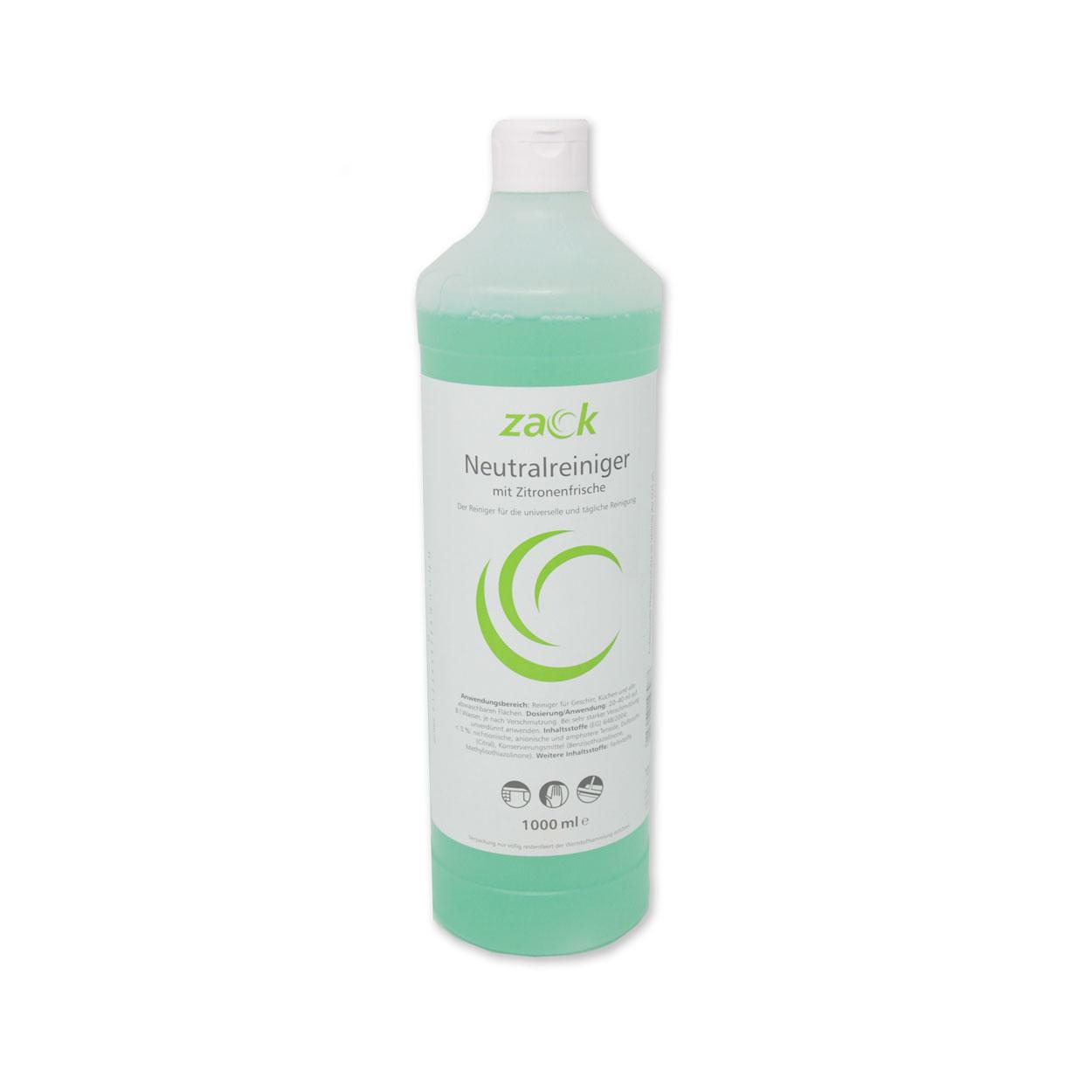 ZACK Neutralreiniger mit Zitronenfrische - 1000 ml - Flasche