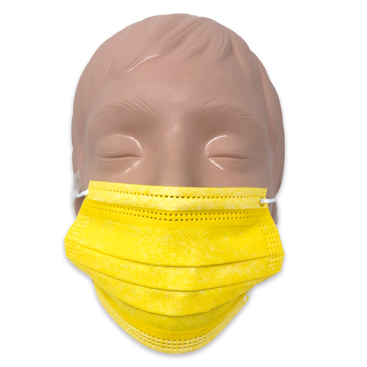 Mundschutz für Kinder in gelb, Typ II, 3-lagig - Packung à 50 Stück