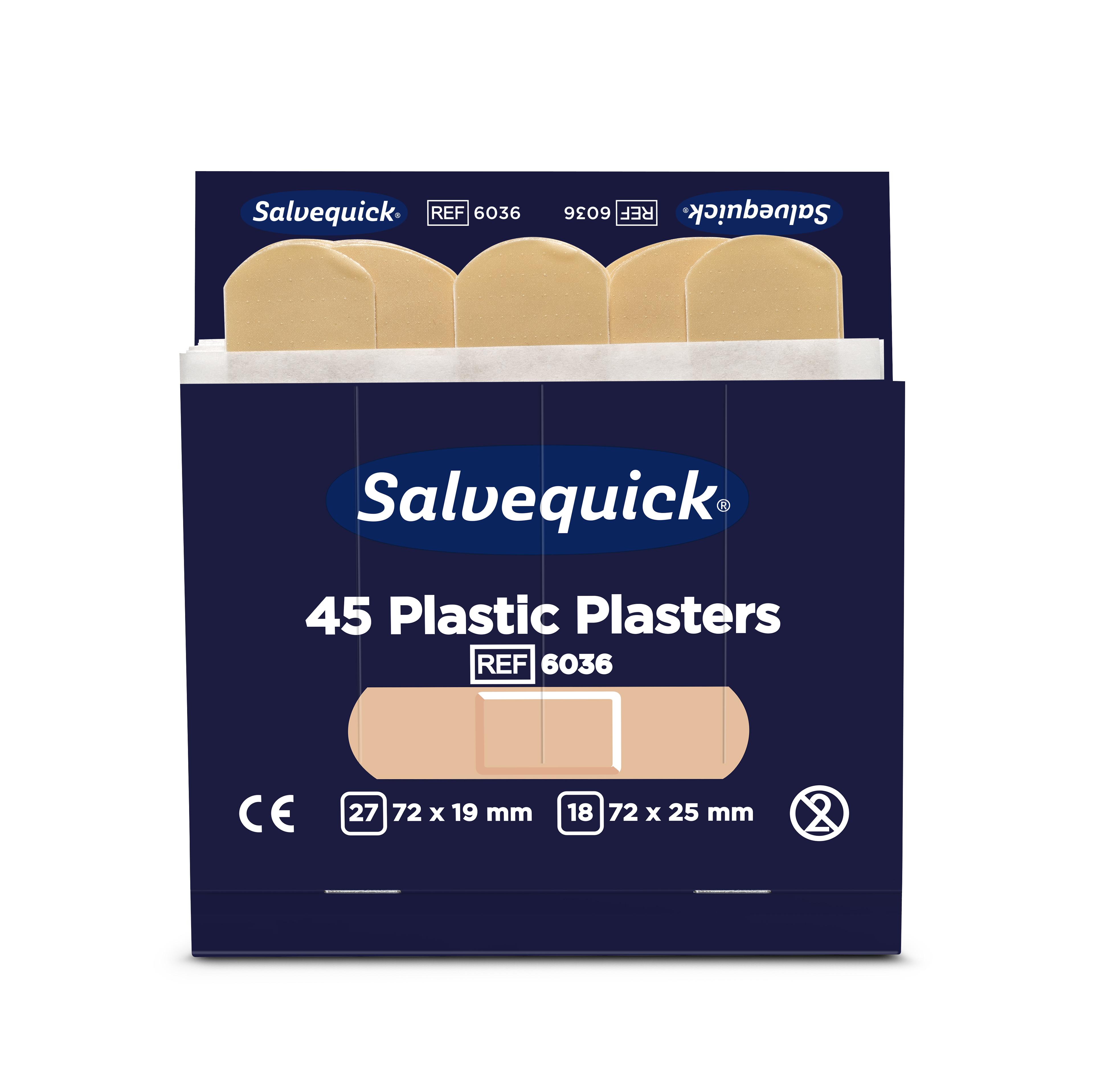 Cederroth Salvequick Plastic Pflaster - 45 Stück Pflaster