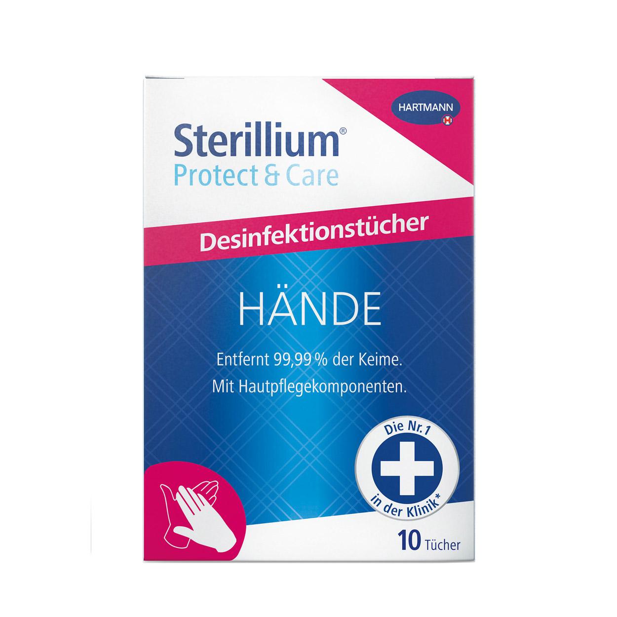 Sterillium® Protect & Care Händedesinfektionstücher, 10 Tücher