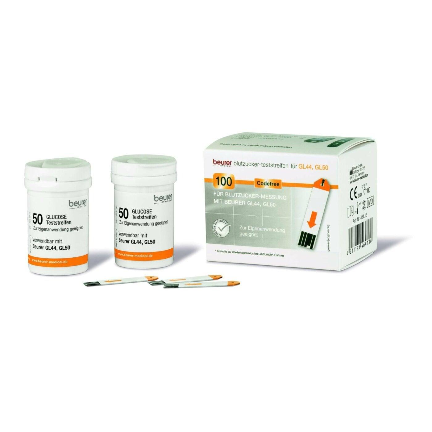 Blutzucker-Teststreifen GL 44/50/50 evo - 1 Dose á 50 Stück einzeln verpackt
