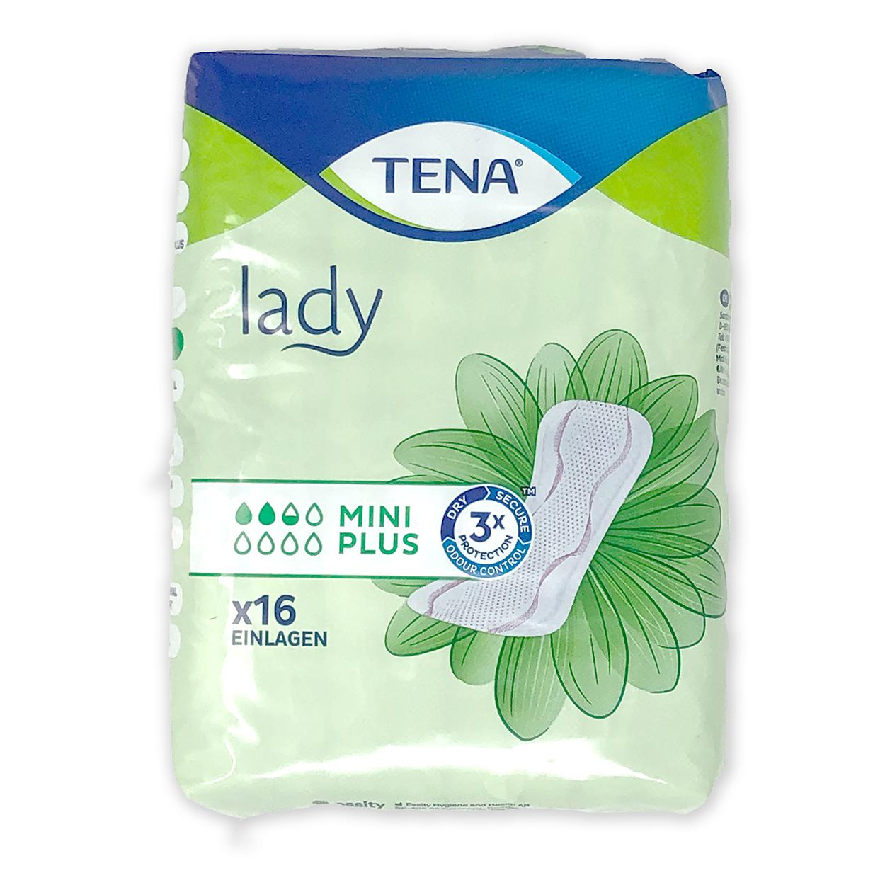 TENA LADY mini plus Einlagen - Packung à 16 Stück