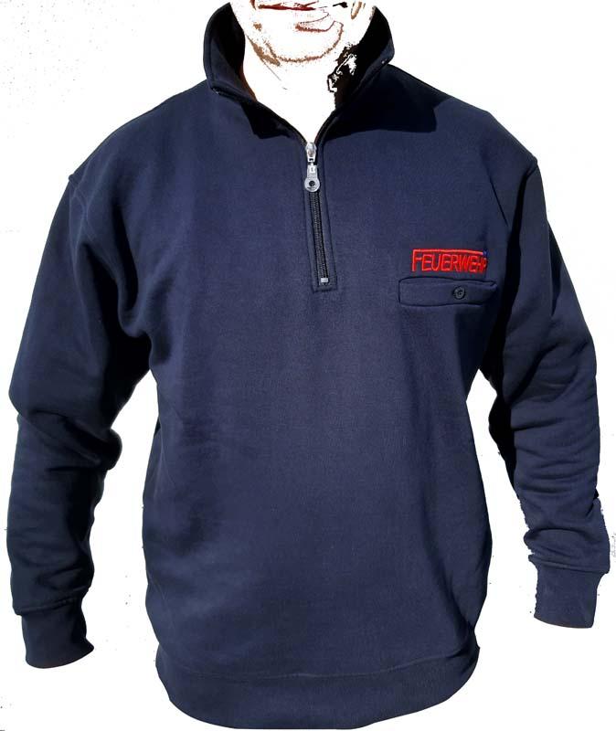 Zip-Sweatshirt Bluelight, Feuerwehr