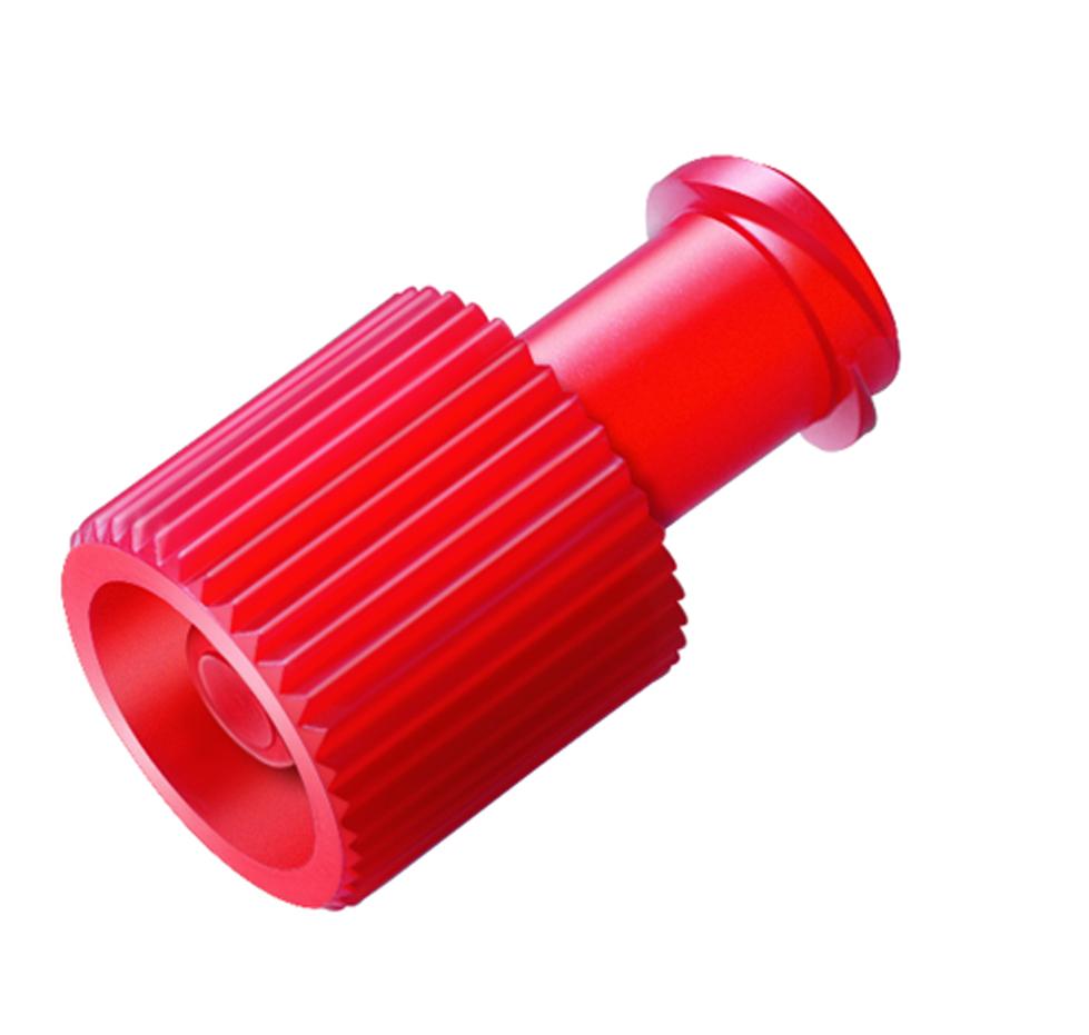Kombistopfen in rot, 1 Stück